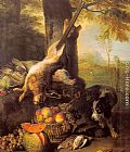 Alexandre-Francois Desportes Still Life with Dead Hare and Fruit painting