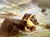 Alfred Guillou Adieu painting