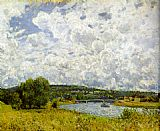 Alfred Sisley The Seine at Suresnes painting