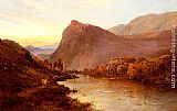 Alfred de Breanski Snr Sunset In The Glen painting