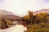 Alfred de Breanski Snr Tyn-Y-Groes, The Golden Valley painting