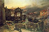 Alphonse de Neuville The Cemetery at St. Privat painting