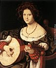 Andrea Solario The Lute Player painting