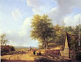 Andreas Schelfhout The Country Road painting