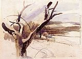 Andrew Wyeth Winter Farm Scene painting