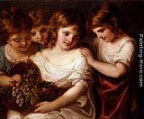 Angelica Kauffmann Four Children With A Basket Of Fruit painting