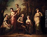 Angelica Kauffmann Portrait Of Philip Tisdal With His Wife And Family painting
