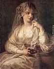 Angelica Kauffmann Portrait of a Woman Dressed as Vestal Virgin painting