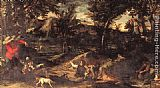 Annibale Carracci Hunting painting