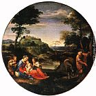Annibale Carracci Rest on Flight into Egypt painting