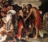 Annibale Carracci The Baptism of Christ painting
