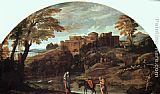 Annibale Carracci The Flight into Egypt painting