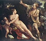 Annibale Carracci Venus and Adonis painting