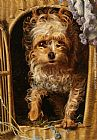 Anthony Frederick Sandys Darby in his Basket Kennel painting