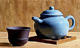 Anthony J. Ryder Blue Teapot painting