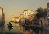 Antoine Bouvard A View of Grand Canal Venice painting