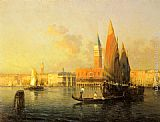 Antoine Bouvard A View of Venice from Isola di S. Georgio painting