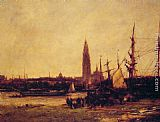 Antoine Vollon View of Antwerp painting