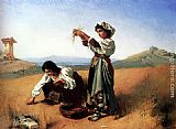 Anton Romako The Gleaners painting