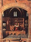 Antonello da Messina St. Jerome in his Study painting