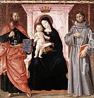 Antoniazzo Romano Madonna Enthroned with the Infant Christ and Saints painting