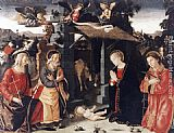 Antoniazzo Romano Nativity with Sts Lawrence and Andrew painting