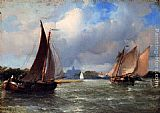 Antonie Waldorp Bomschuiten Heading For Shore painting
