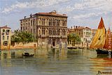 Antonietta Brandeis Palazzo Camerlenghi and the Ca Vendramin Calergi in Venice painting