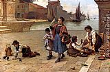 Antonio Paoletti The Bird Seller painting