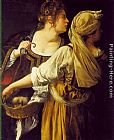 Artemisia Gentileschi Judith and her Maidservant painting