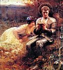 Arthur Hacker The Temptation of Sir Percival painting