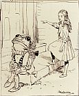 Arthur Rackham Alice And The Frog Footman painting