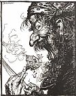 Arthur Rackham Mother Goose A Little Nothing Woman painting