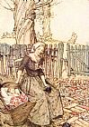 Arthur Rackham Mother Goose Bye Baby Bunting painting