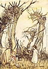 Arthur Rackham Mother Goose Man in the Wilderness painting
