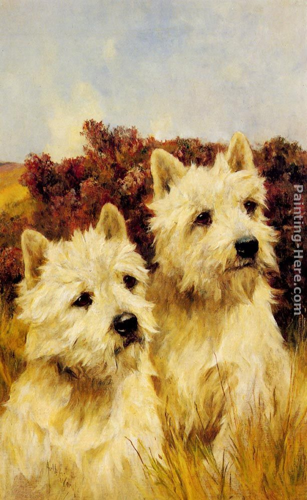 Arthur Wardle Jacque and Jean, Champion Westhighland White Terriers