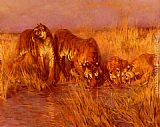 Arthur Wardle The Tiger Pool painting