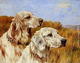 Arthur Wardle Two Setters painting