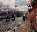 Attilio Pratella Street Scene In Autumn painting
