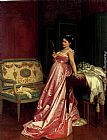 Auguste Toulmouche The Admiring Glance painting
