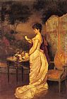 Auguste Toulmouche The Love Letter painting