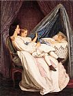 Auguste Toulmouche The New Arrival painting