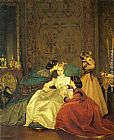 Auguste Toulmouche The Reluctant Bride painting