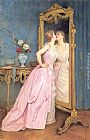 Auguste Toulmouche Vanity painting