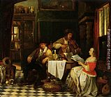 Baron Jan August Hendrik Leys The Musician painting