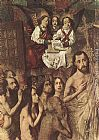 Bartolome Bermejo Christ Leading the Patriarchs to the Paradise (detail) painting