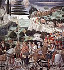 Benozzo di Lese di Sandro Gozzoli Procession of the Oldest King (west wall) painting