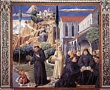 forest scene Framed Prints - Scenes from the Life of St Francis (Scene 12, south wall)