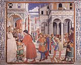 Benozzo di Lese di Sandro Gozzoli The School of Tagaste (scene 1, north wall) painting