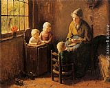Bernard Jean Corneille Pothast At Mothers Knee painting